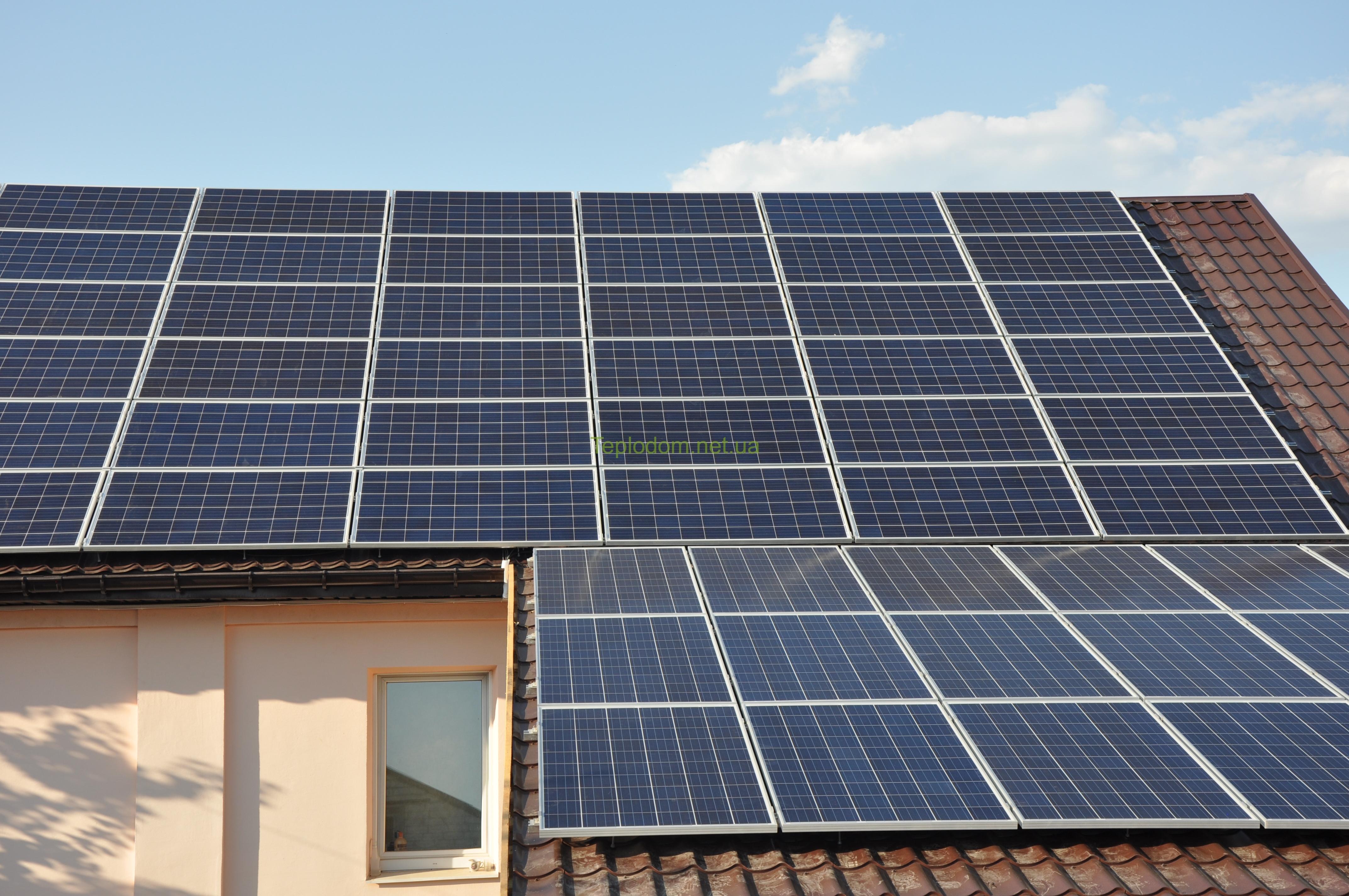 Проектирование, монтаж и подключение солнечной станции для дома 15 кВт в г. Полтава