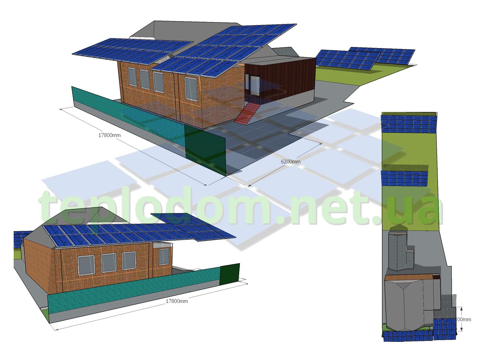 проект солнечной электростанции, СЭС на навес и наземные конструкции