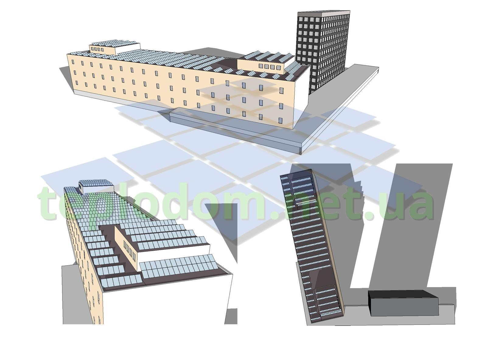 проект солнечной электростанции, СЭС на коммерческое здание