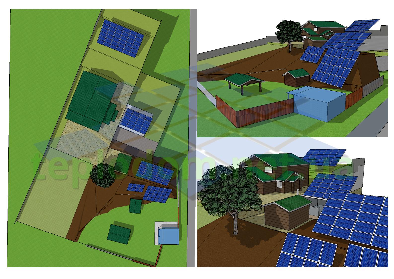 проект солнечной электростанции, дизайн СЭС 30 кВт на сложном рельефе