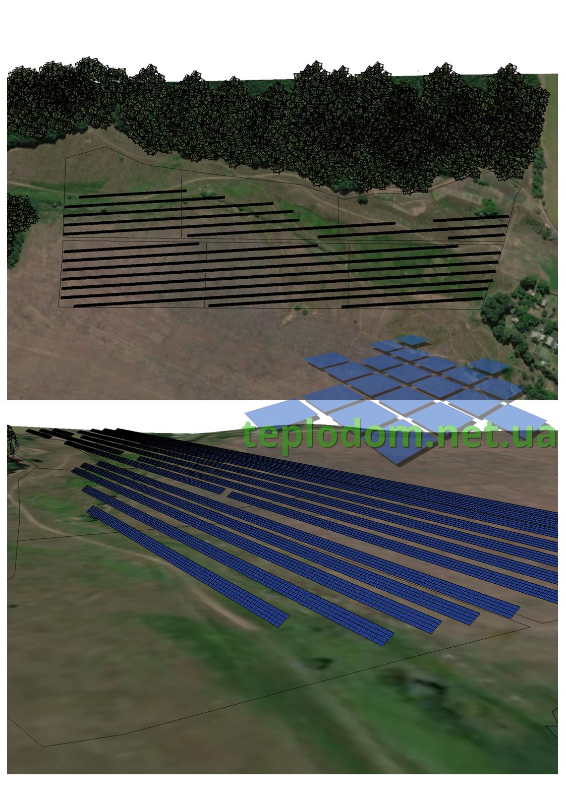 предпроект промышленной солнечной электростанции 12 Га