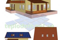 проект солнечной электростанции, СЭС на кровлю частного дома