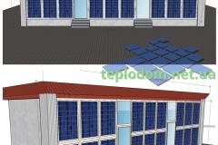 3D проект солнечной электростанции BIPV, стекло/стекло солнечные панели