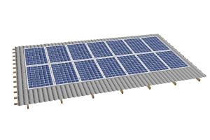 система креплений солнечных батарей из стали на скатную крышу