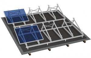 система креплений солнечных батарей из стали на плоскую крышу