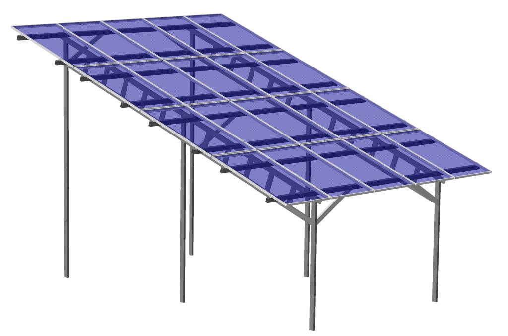 Сварные крепления солнечных батарей, навес для солнечных панелей на 5 кВт