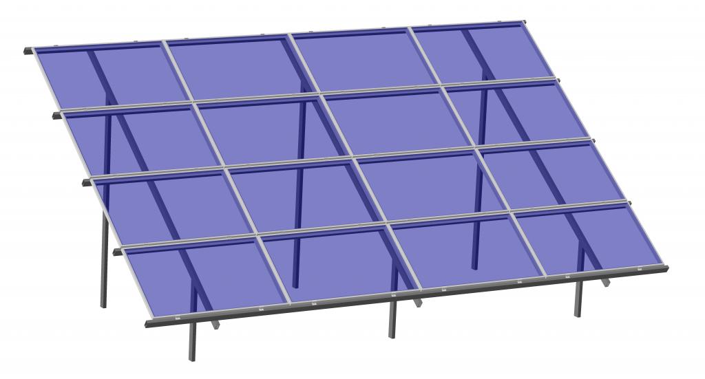 Сварные крепления солнечных батарей, наземная система крепления солнечных панелей на 16 фотомодулей