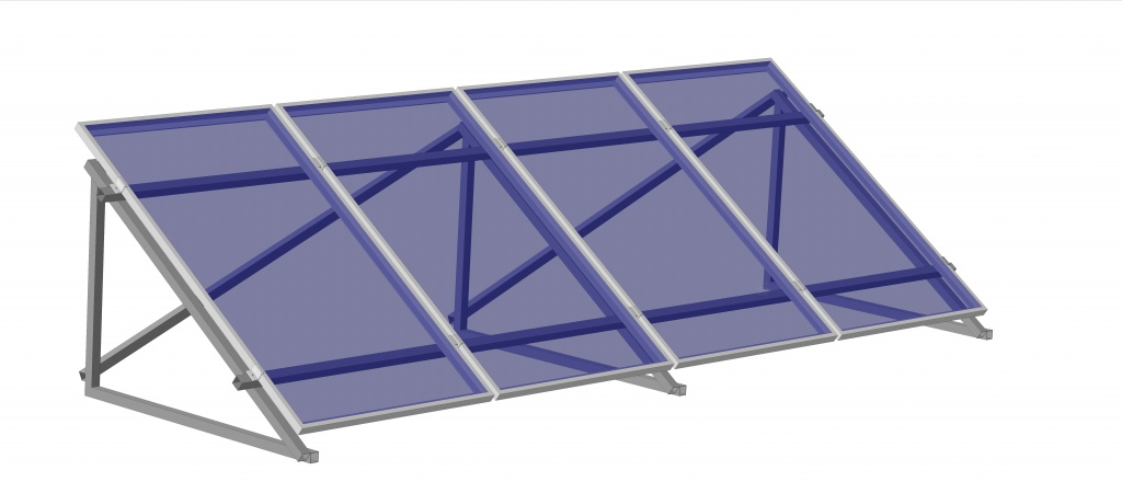 Сварные крепления солнечных батарей, крепления солнечных панелей на плоскую крышу