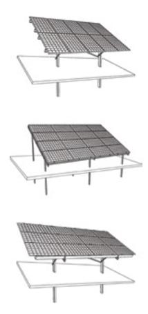 наземная система креплений солнечных батарей из стали для установки на участке