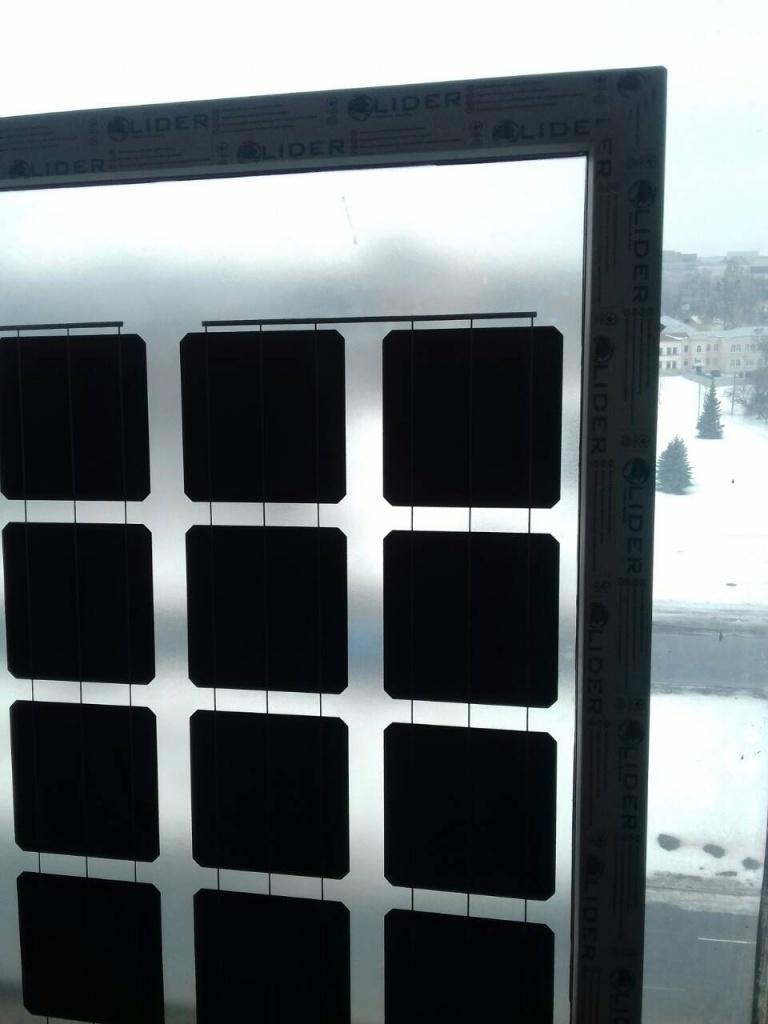 Прозрачные солнечные панели для оконSolitek SOLID Solrif